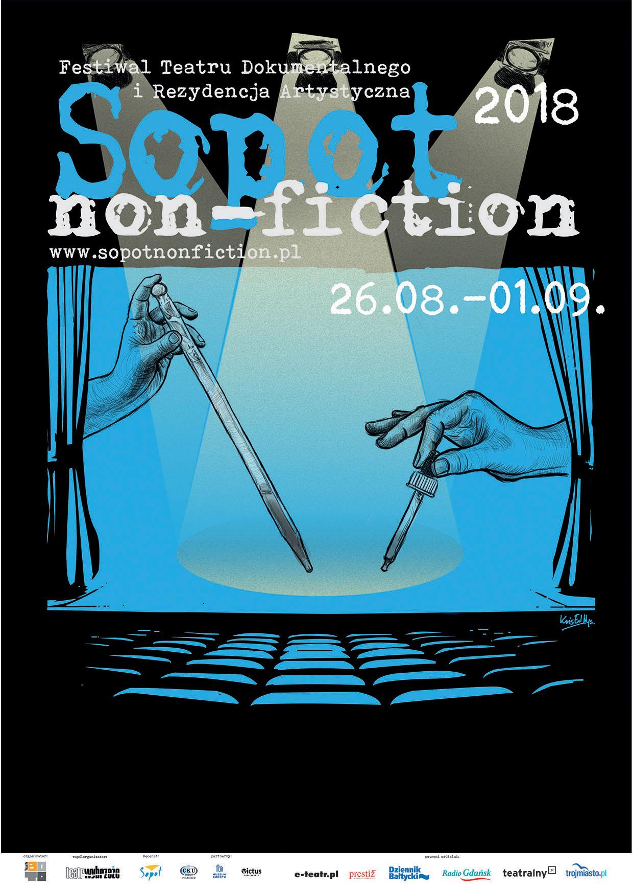 Plakat festiwalu Sopot Non-Fiction
