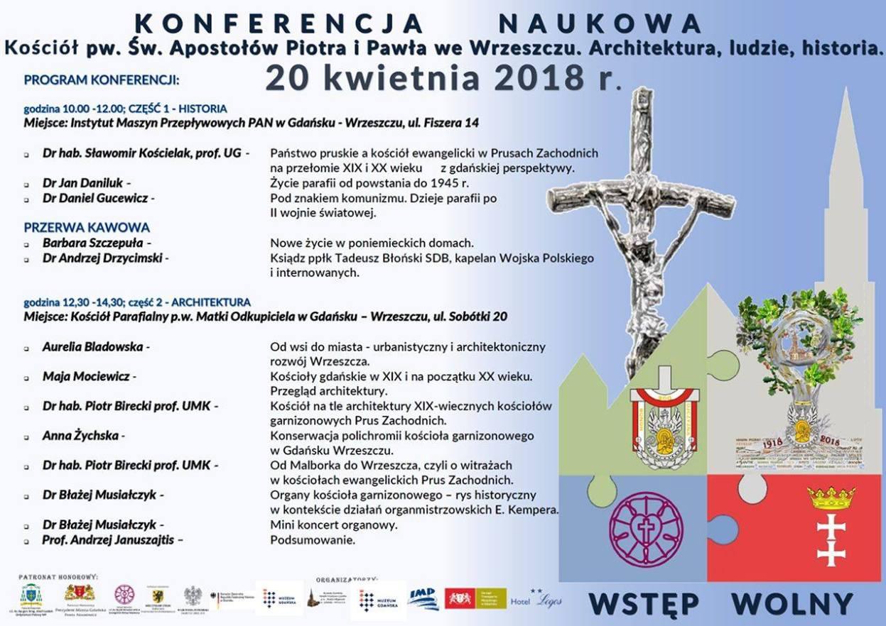 Plakat konferencji naukowej we Wrzeszczu