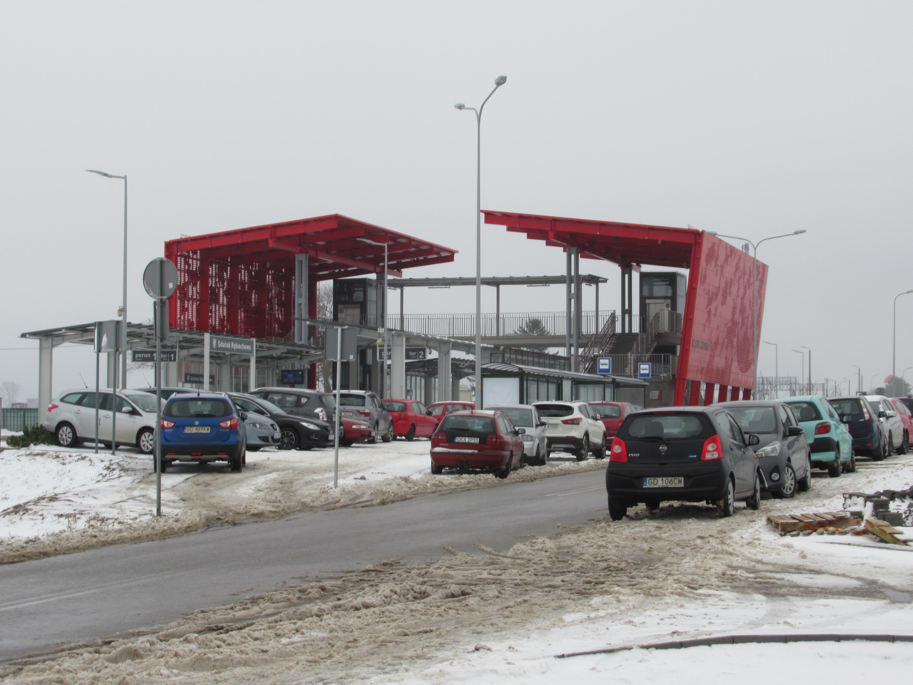 Rowerem lub autem na stację, a dalej pociągiem. Już w styczniu będzie gotowy węzeł przesiadkowy przy stacji PKM Gdańsk Rębiechowo
