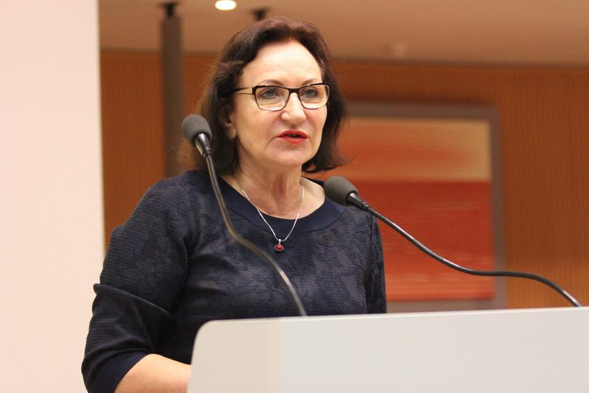 Radna Alicja Zajączkowska podczas sesji sejmiku. Fot. Sławomir Lewandowski