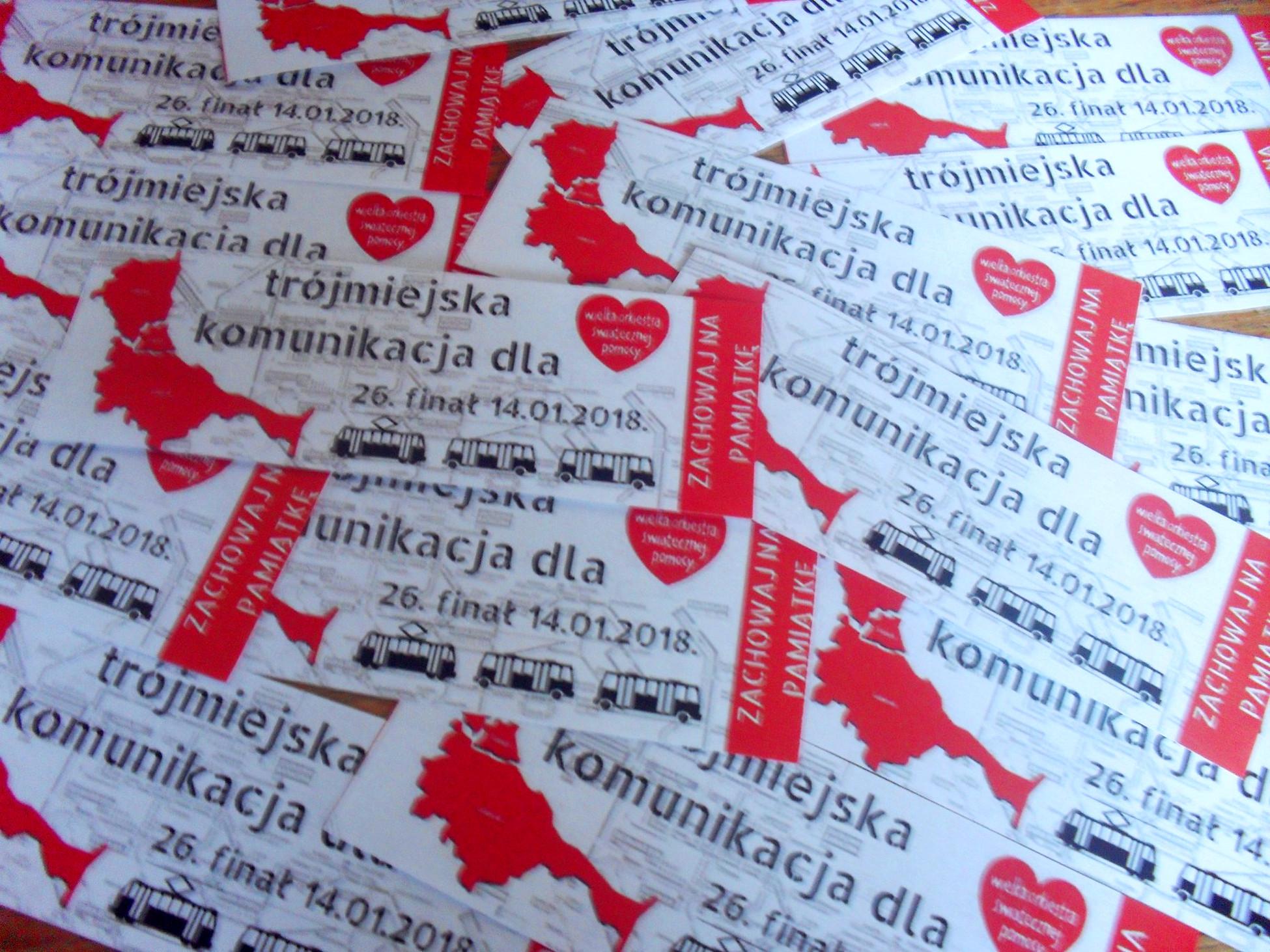 Trójmiejska komunikacja miejska gra dla Wielkiej Orkiestry Świątecznej Pomocy. Transportowe atrakcje 26. finału