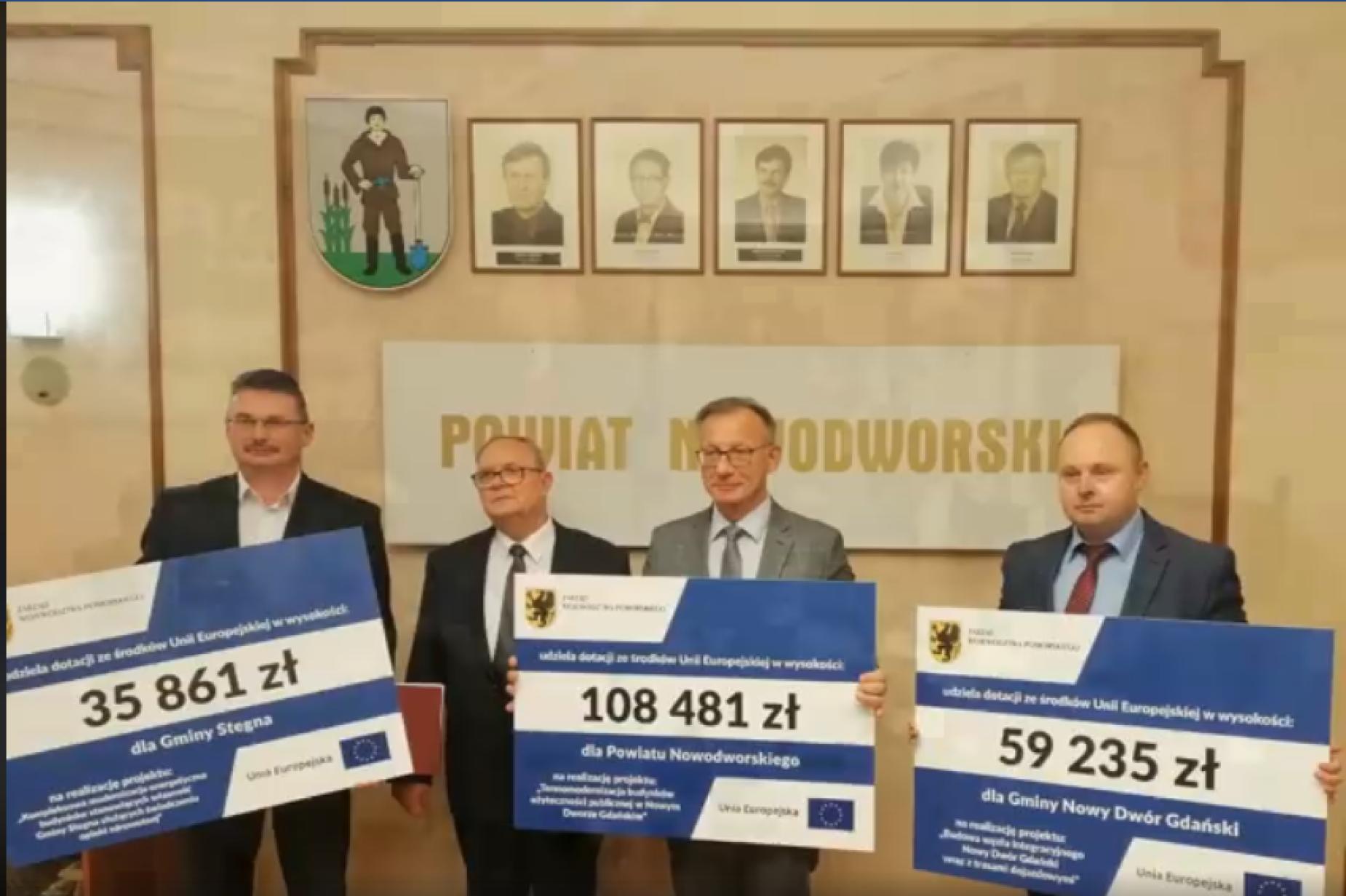 Zwiększone unijne dofinansowanie trafi również na Żuławy. Ponad 200 tys. zł na inwestycje w powiecie nowodworskim