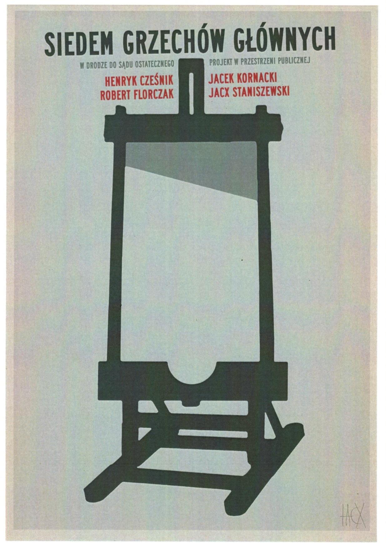 Plakat wystawy Siedem grzechów głównych