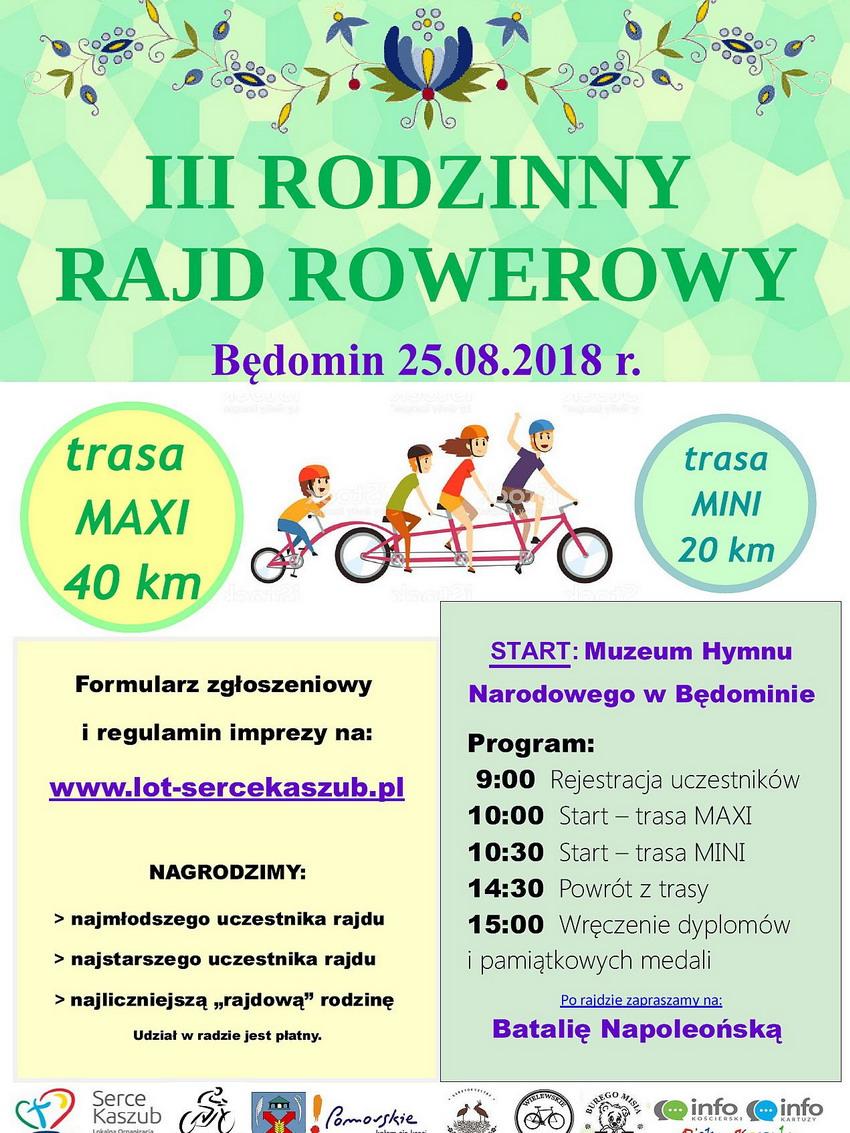 Rodzinny Rajd Rowerowy w Będominie_plakat