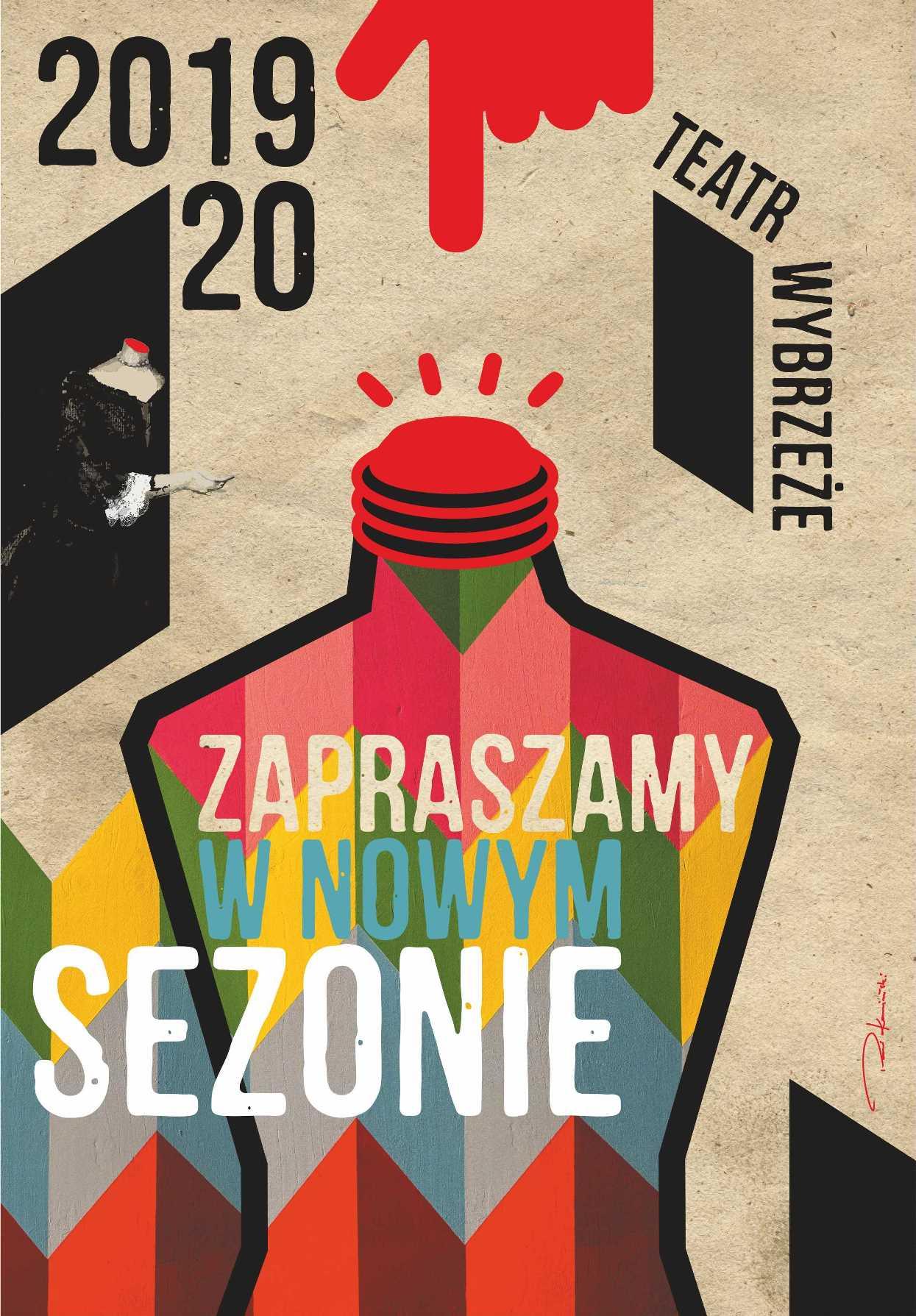 Plakat nowego sezonu w Teatrze Wybrzeże