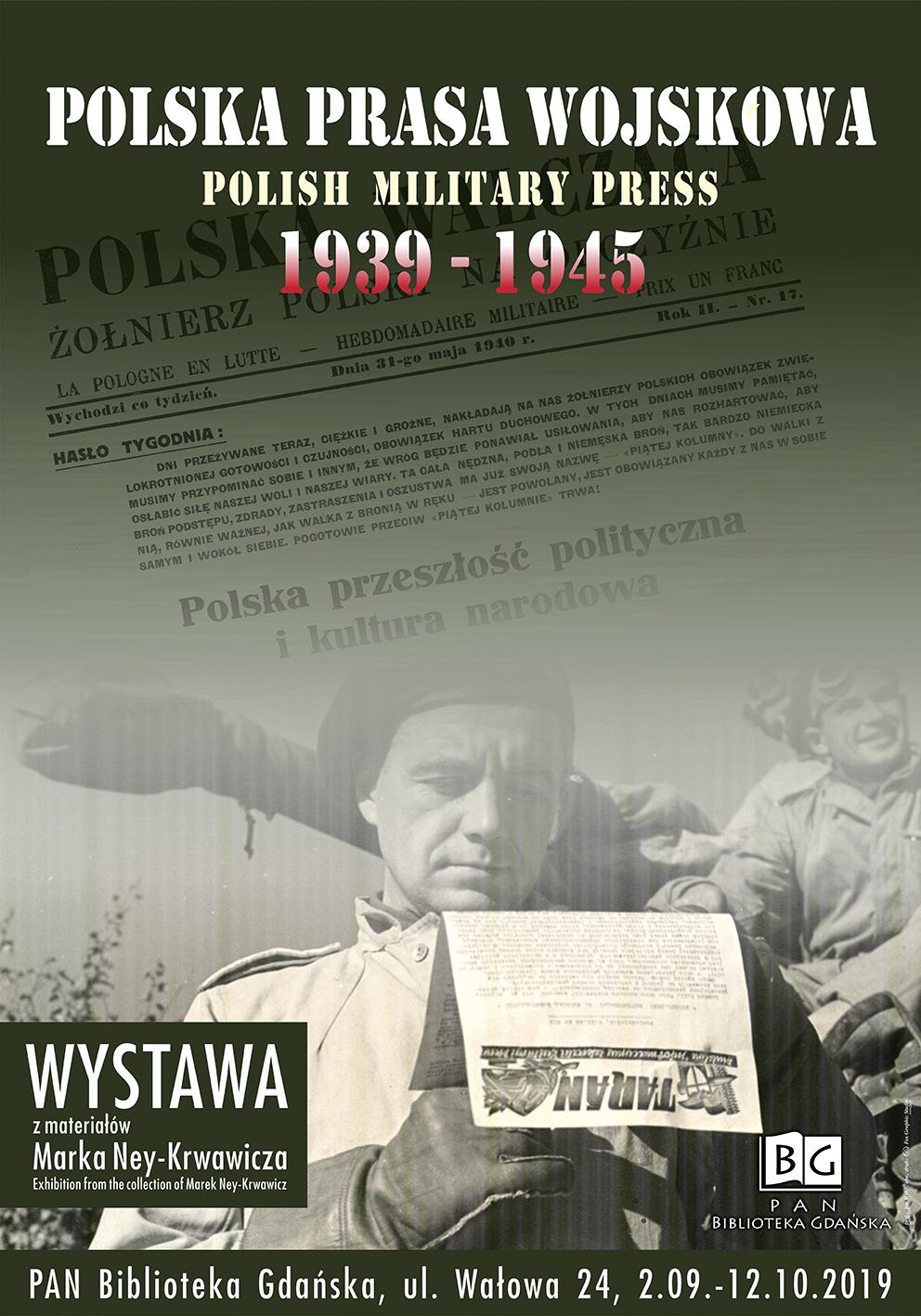Plakat wystawy Polska prasa wojskowa
