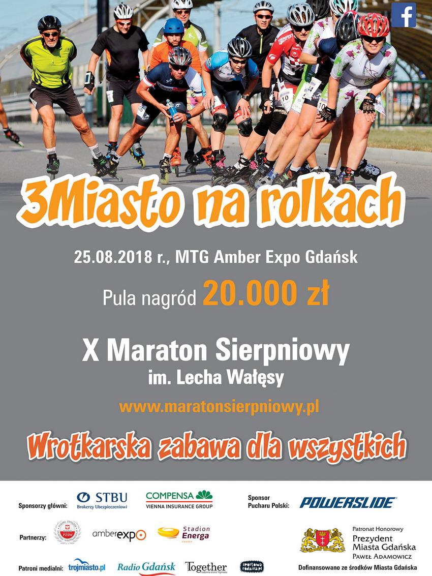 X Maraton Sierpniowy im. Lecha Wałęsy_plakat
