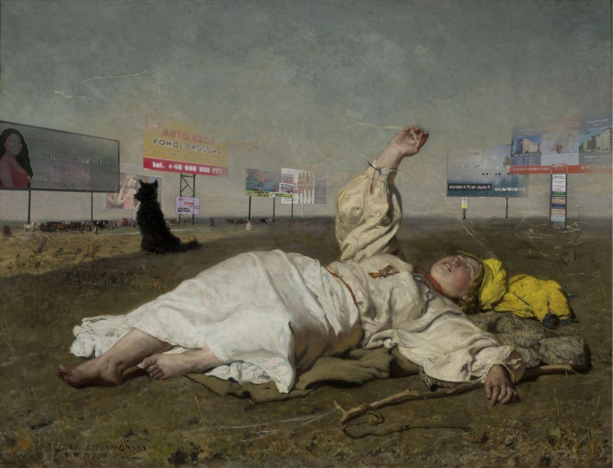 """Chełmoński i Kossak wśród billboardów. """"Sztuką jest znaleźć choć fragment przestrzeni wolnej od reklam"""""""