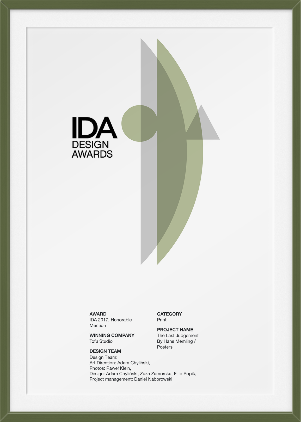 IDA - Honorable Mention