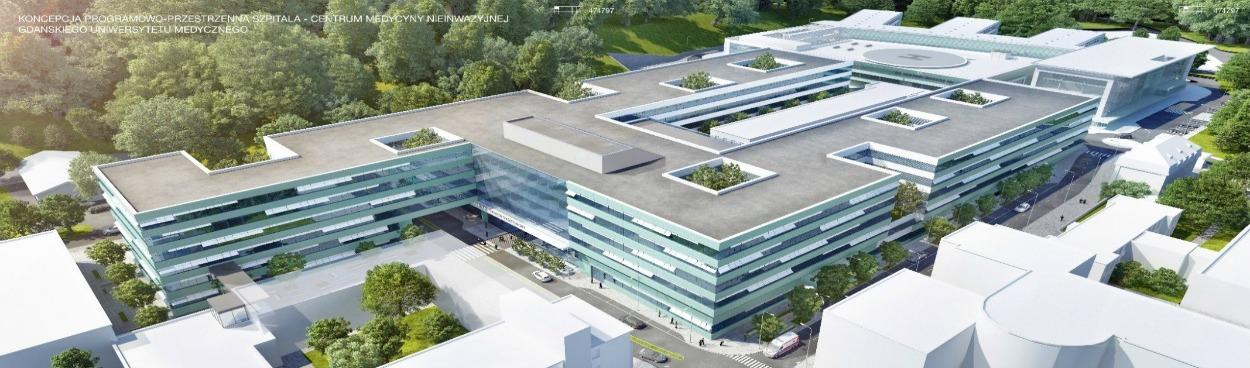 To będzie jeden z najnowocześniejszych szpitali w Polsce. Wiecha zawisła nad Centrum Medycyny Nieinwazyjnej w Gdańsku