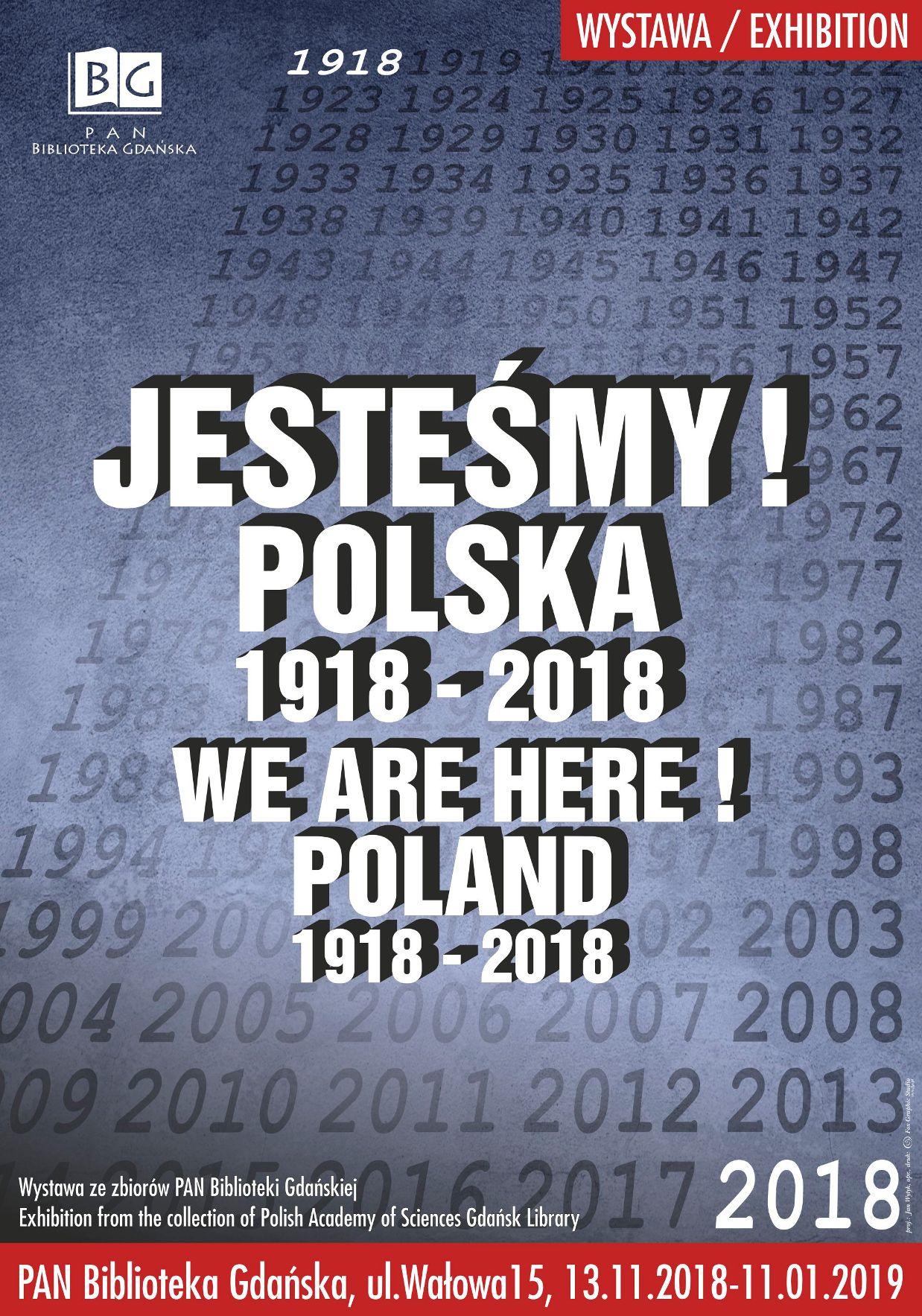 Plakat wystawy jesteśmy Polska