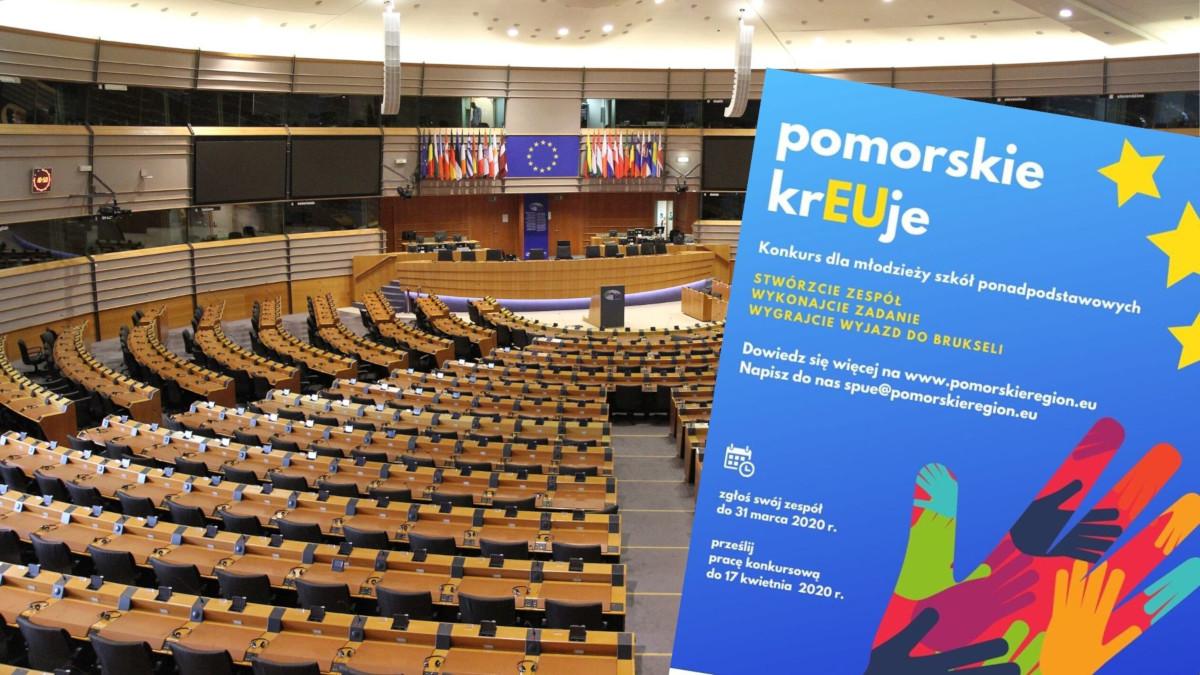 """Chcesz jechać w maju do Brukseli? Weź udział w konkursie dla uczniów """"Pomorskie kreUEje"""" [ZGŁOSZENIA]"""