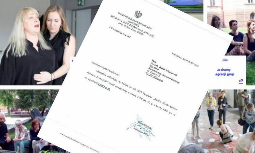 """""""No to mamy problem"""". Minister kultury bez wyjaśnienia obcina dotacje. Będą protesty?"""