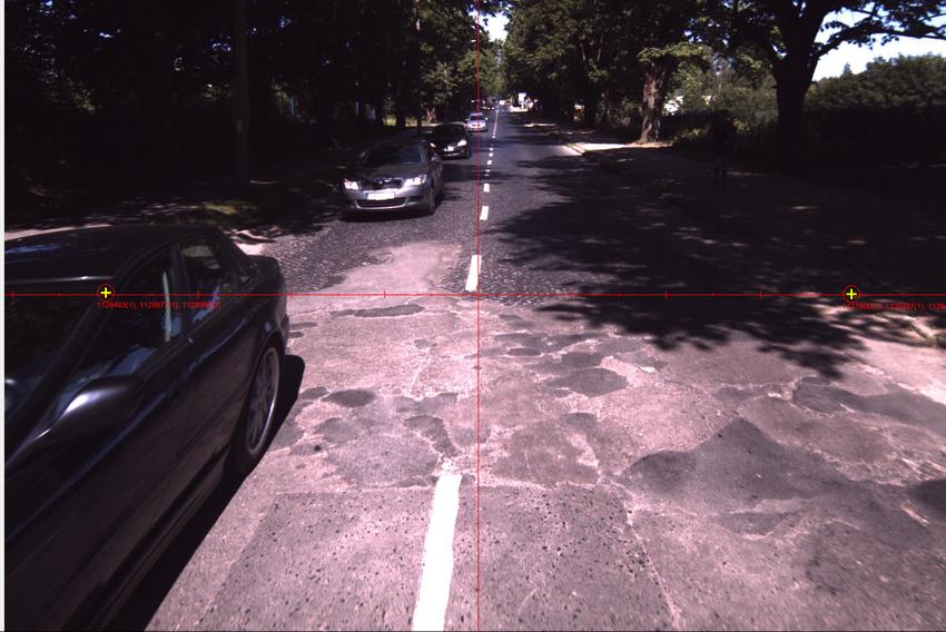 Droga wojewódzka nr 215. Fot. z wideorejestratora Rejonu Dróg Wojewódzkich w Pucku