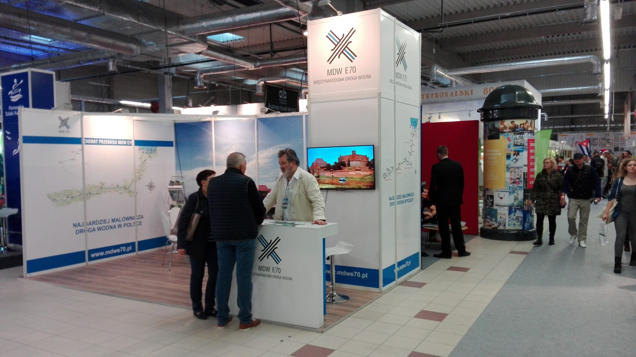 INTERNATIONAL WATERWAY E70 AT THE WORLD TRAVEL SHOW IN NADARZYN, POLAND