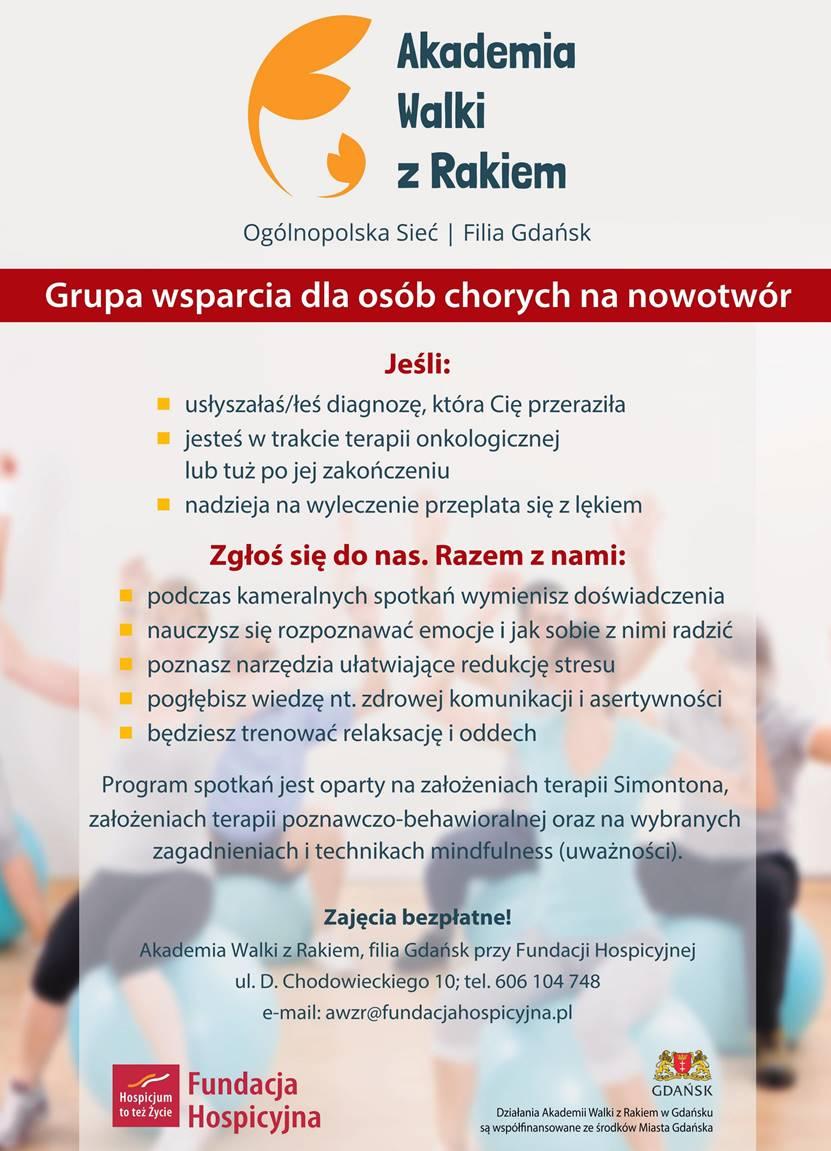 Akademia walki z rakiem_plakat