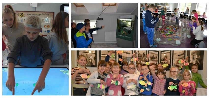 Zajęcia dla dzieci w siedzibie Lokalnej Grupy Rybackiej Kaszuby w Chmielnie