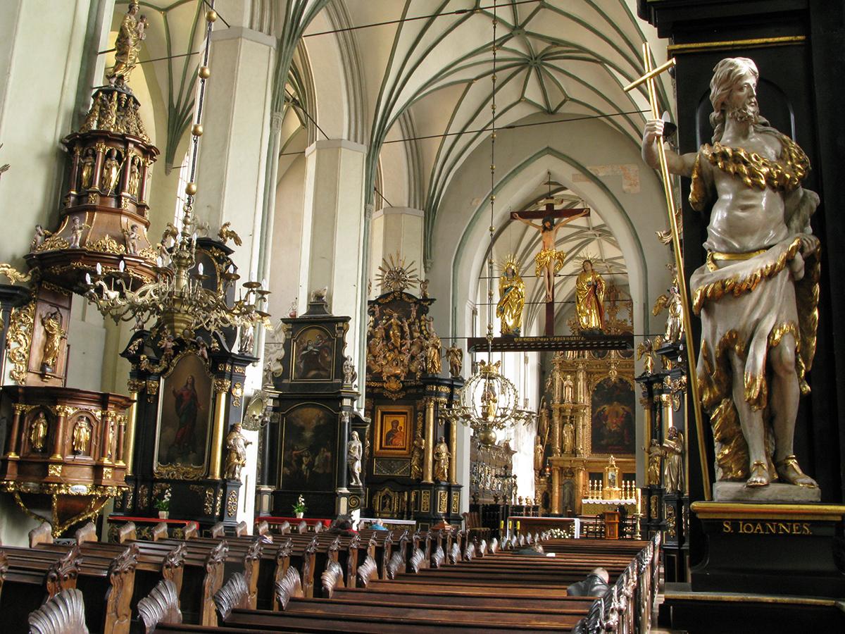 Msza Wigilii Paschalnej z bazyliki św. Mikołaja w Gdańsku