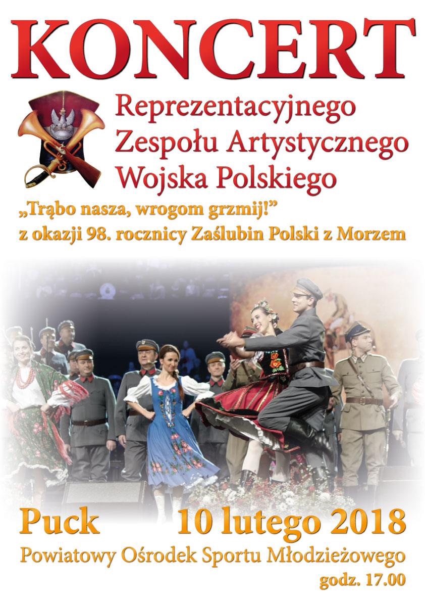 Koncert Wojska Polskiego w Pucku - plakat