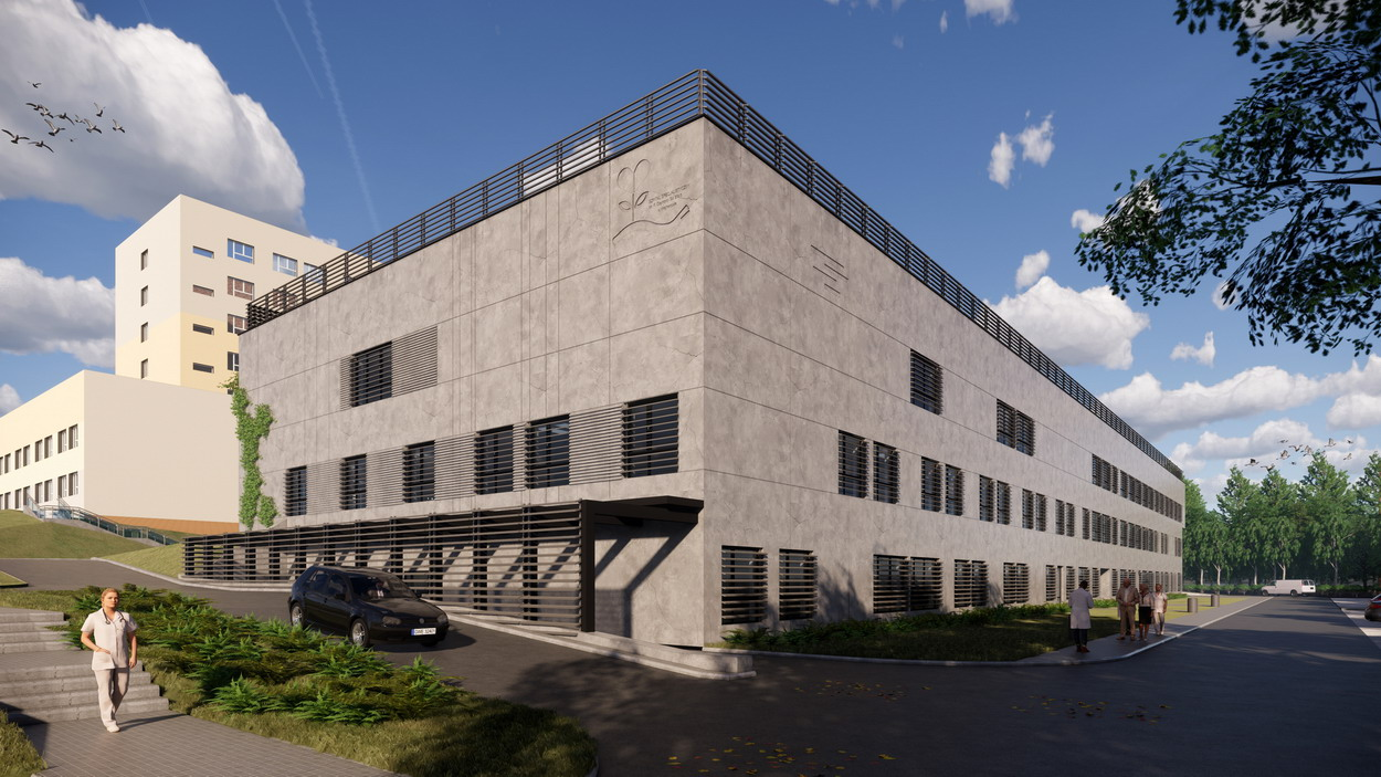wizualizacja budynku szpitala w Wejherowie