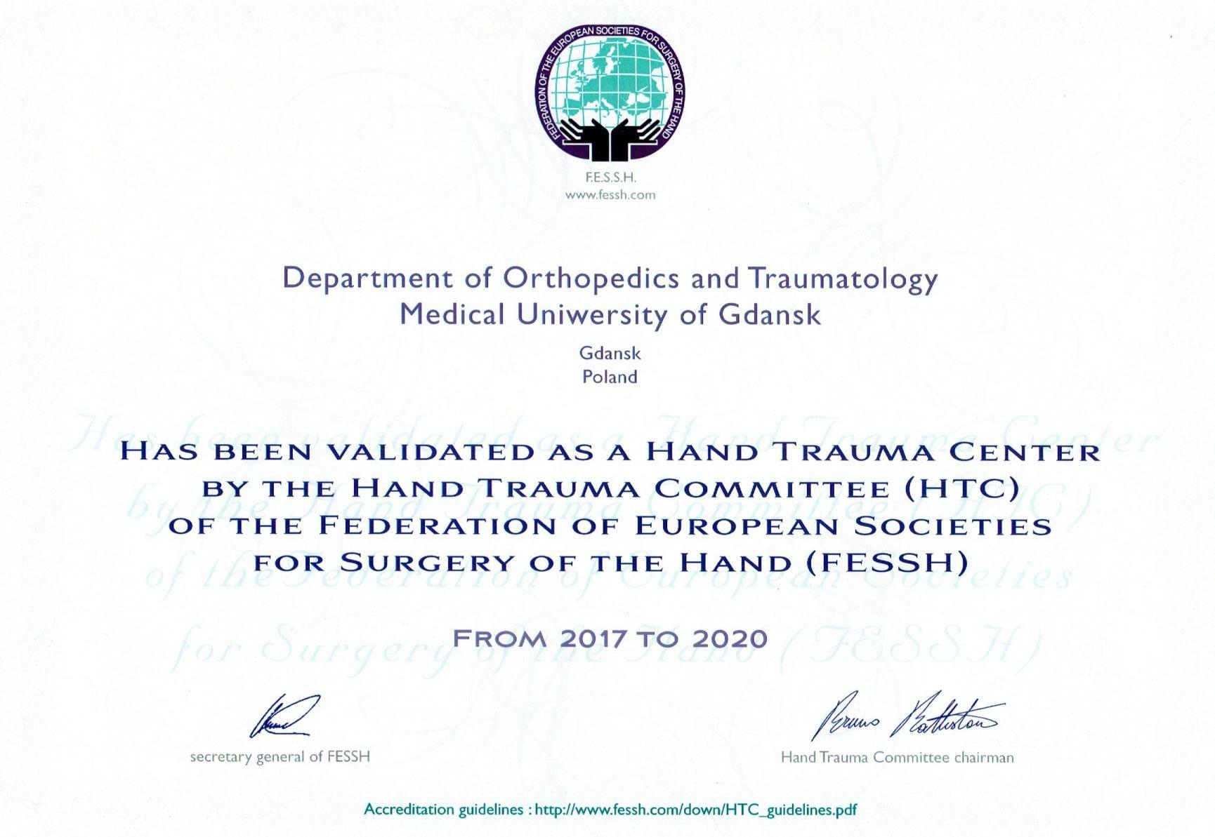 Certyfikat. Fot. materiał prasowy Gdańskiego Uniwersytetu Medycznego