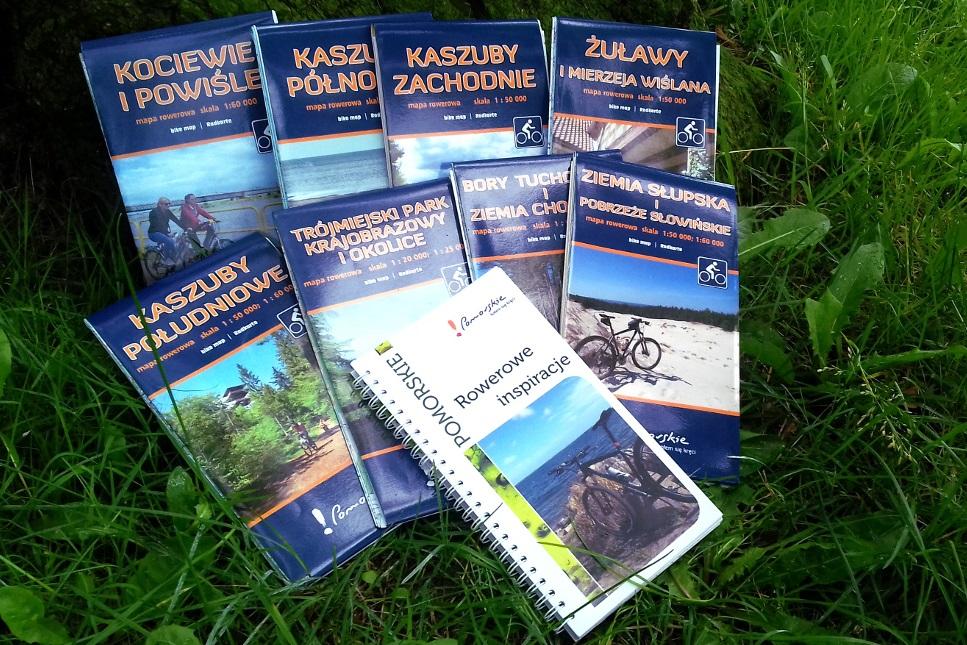 """Pomorskie mapy rowerowe z wyróżnieniem. Nagroda Magellana za serię """"Pomorskie kołem się kręci"""""""