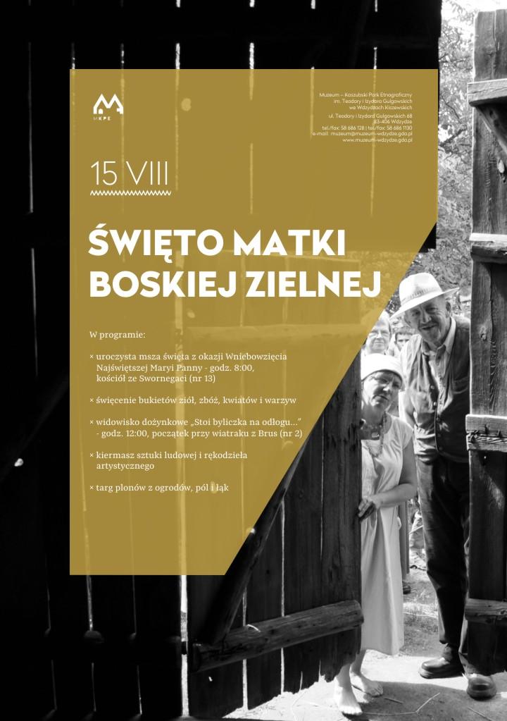Święto Matki Boskiej Zielnej we Wdzydzach - plakat