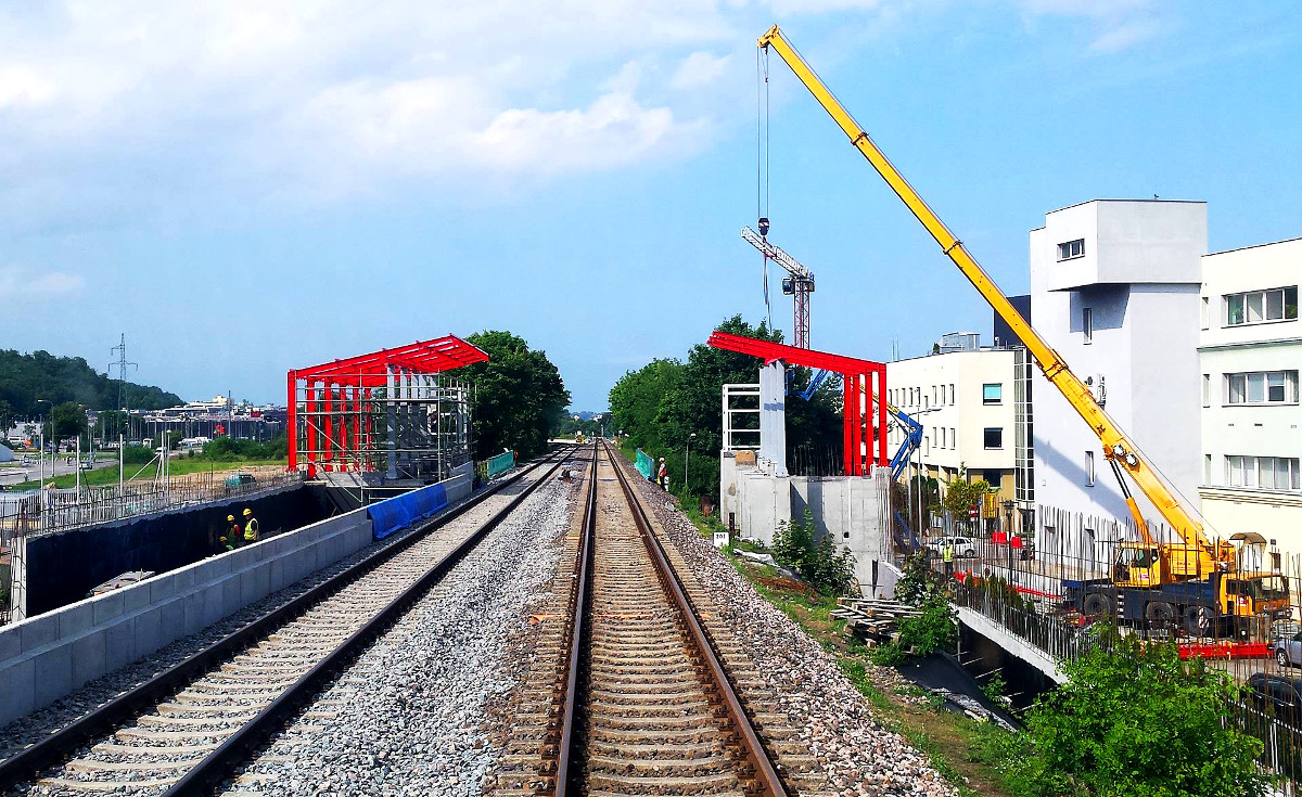 Budowa przystanku PKM Gdynia Stadion