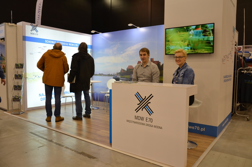 INTERNATIONAL WATERWAY E70 AT THE 2ND WIND AND WATER SILESIAN BOAT SHOW, KATOWICE, POLAND