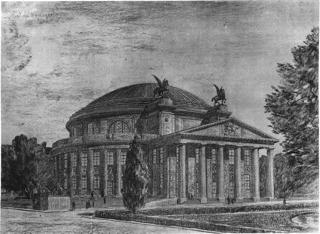 Gdańsk, projekt konkursowy hali miejskiej, Kurt Hempel, 1912  Fot. materiał parsowy organizatora