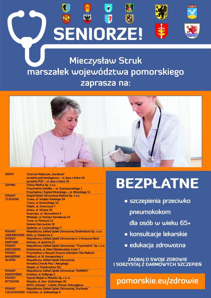 plakat szczepienia pneumokoki