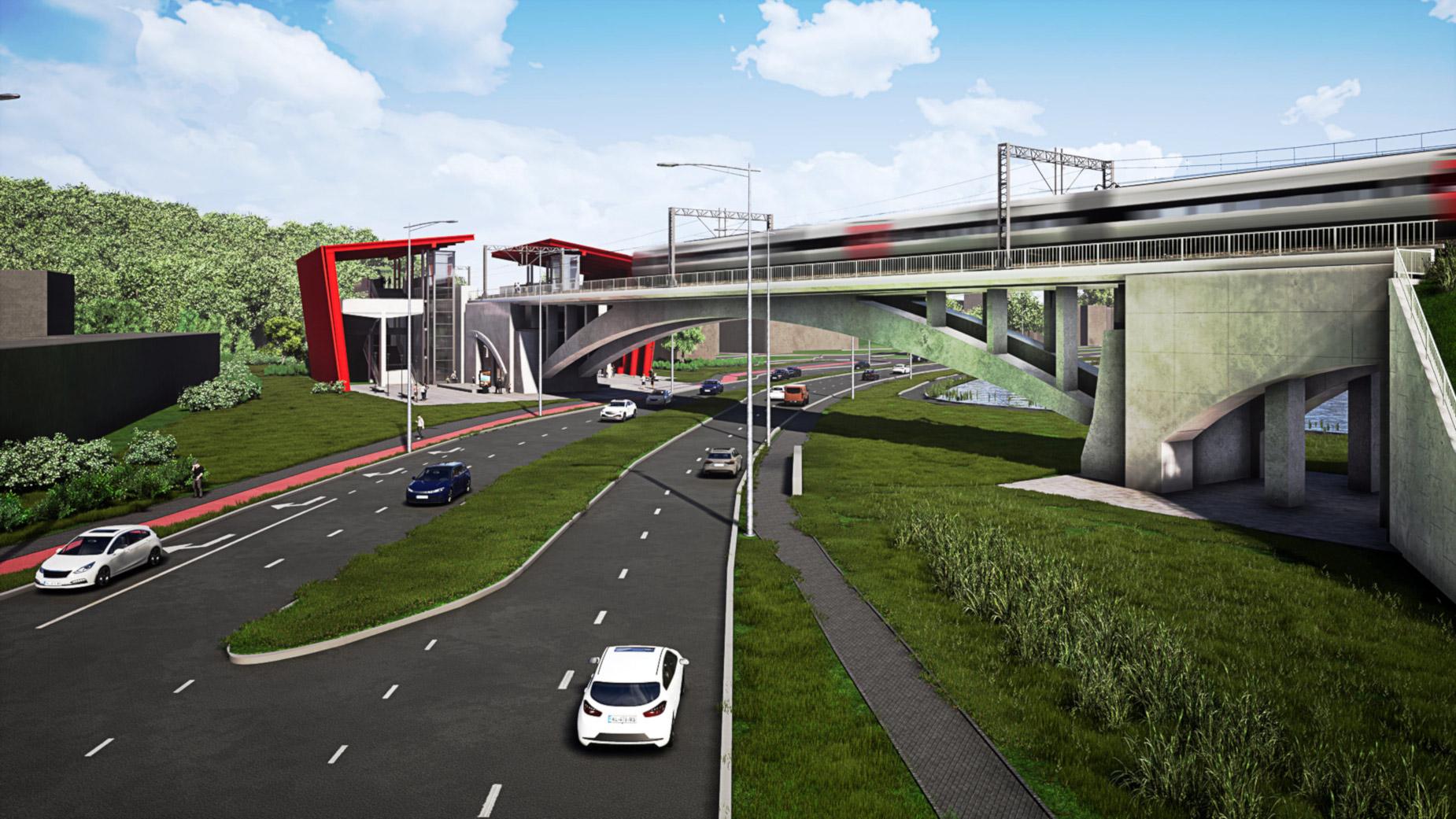 Elektryfikacja i nowy przystanek w Gdańsku. Zobacz, jak zmieni się linia PKM [WIZUALIZACJE]