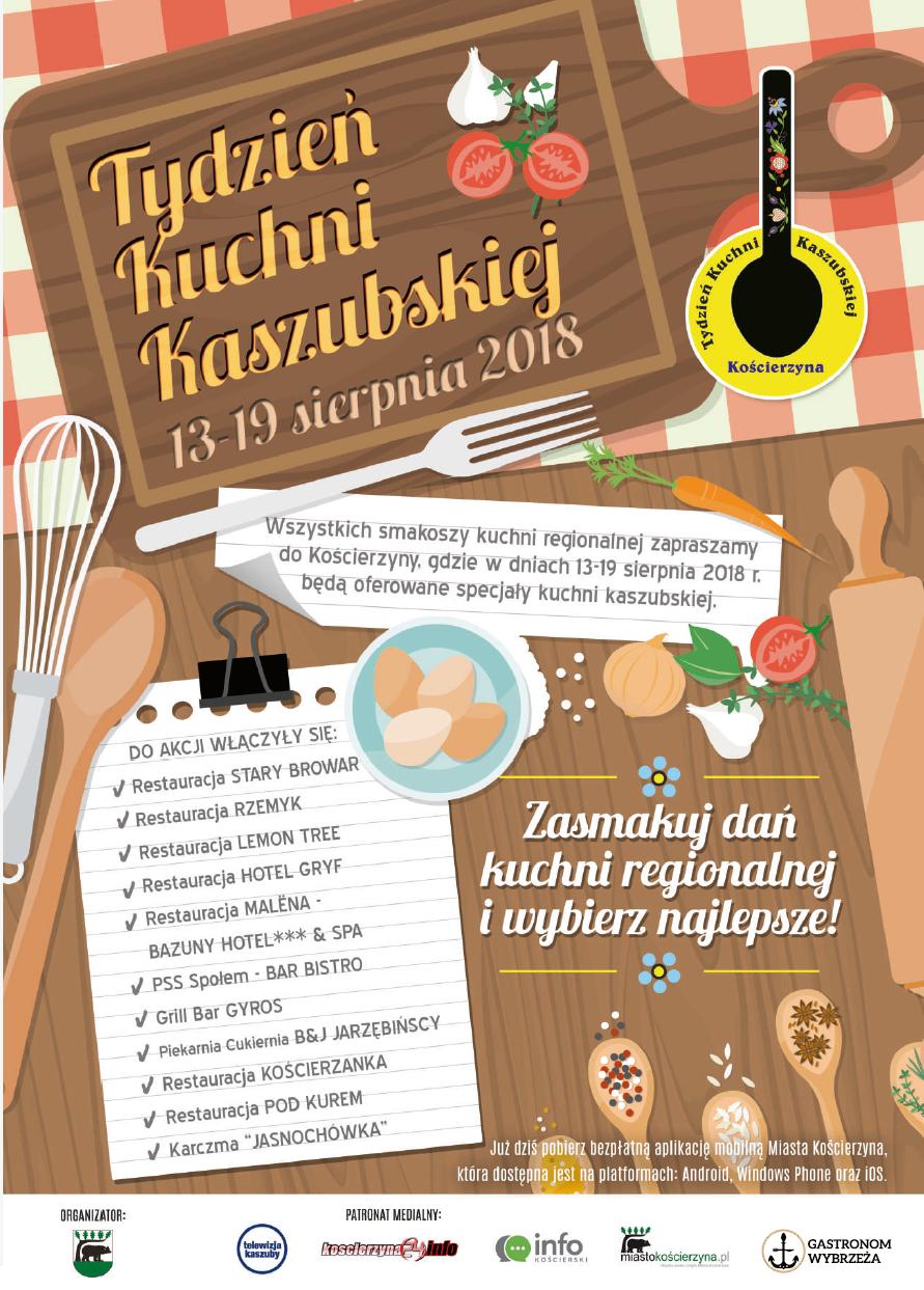 plakat Tydzień Kuchni Kaszubskiej