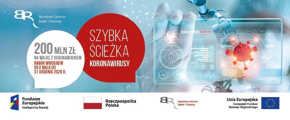 """Narodowe Centrum Badań i Rozowju ogłasza konkurs """"Szybka ścieżka –  Koronawirusy"""""""