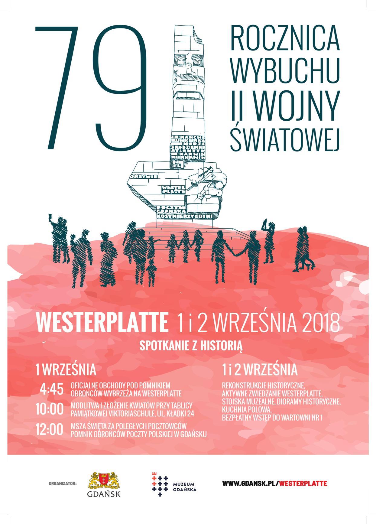 Plakat 79. rocznica wybuchu II wojny światowej
