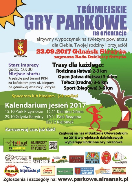 Trójmiejskie Gry Parkowe_plakat
