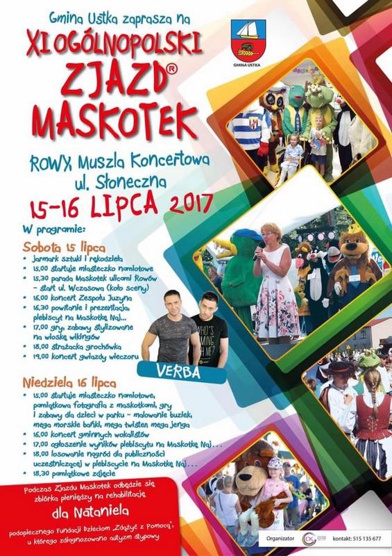 Zjazd maskotek-plakat