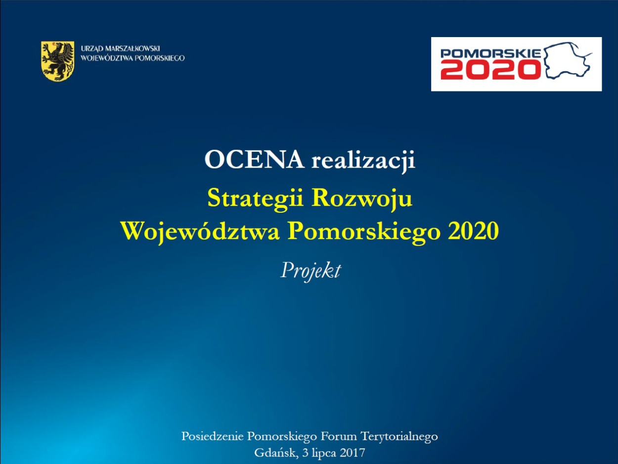 Ocena Strategii Rozwoju Województwa Pomorskiego 2020
