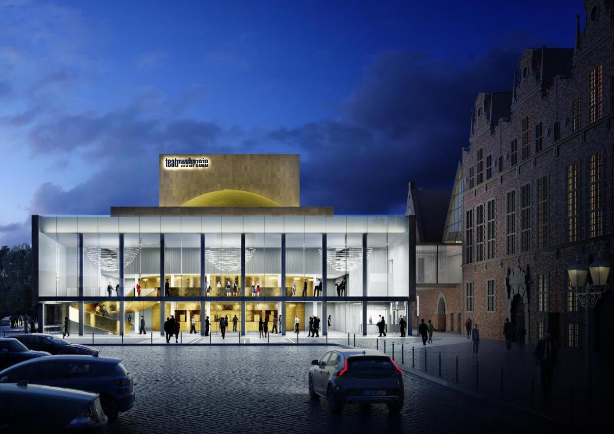 Teatr Wybrzeże jak nowy! Modernizacja Dużej Sceny, przebudowa foyer i nie tylko dzięki dotacjom marszałka i prezydent Gdańska