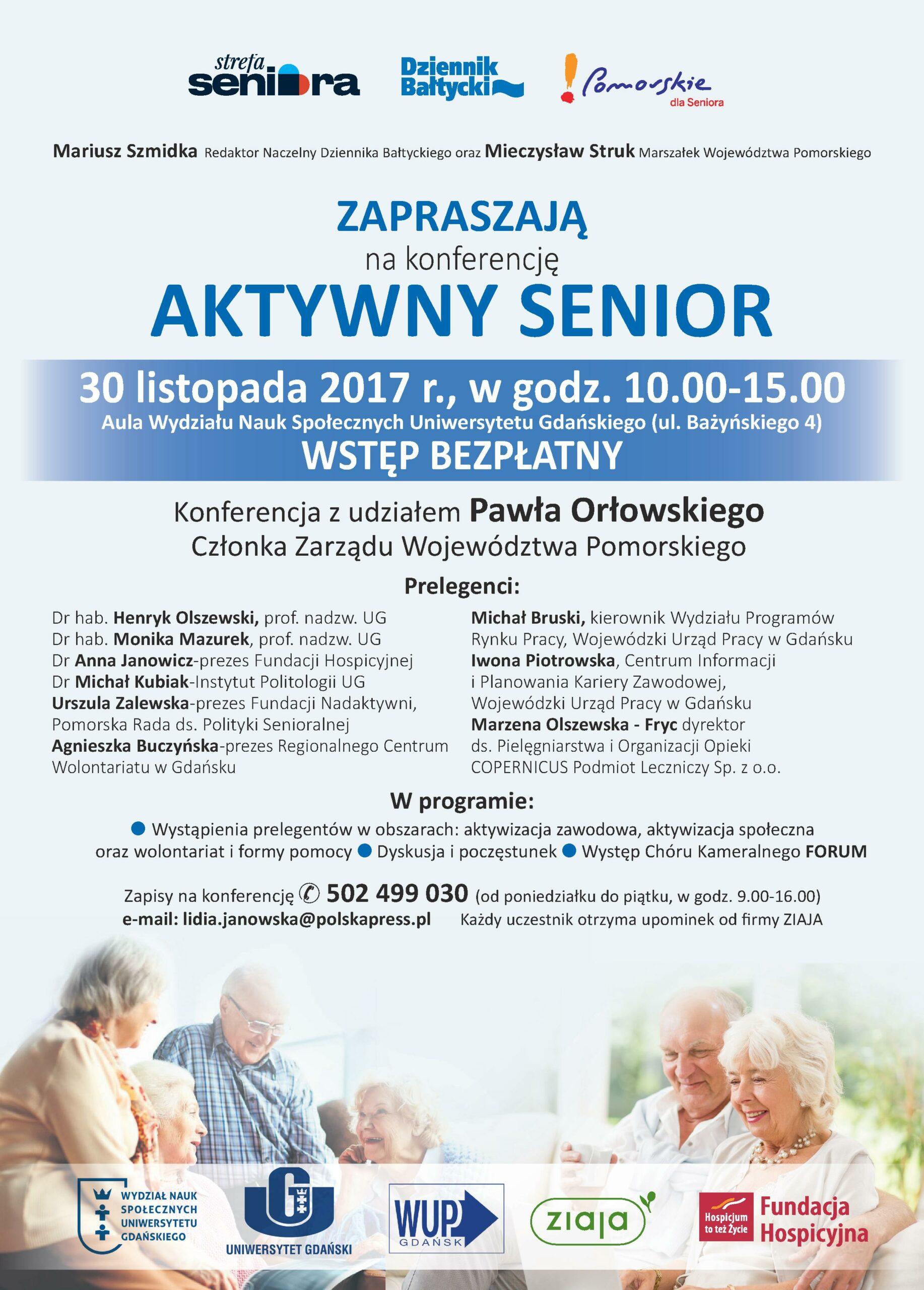 Zaproszenie na Konferencję Aktywny Senior