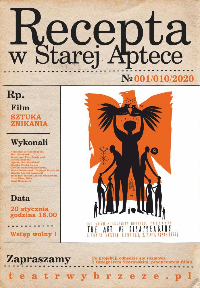Plakat do Recepty w Starej Aptece
