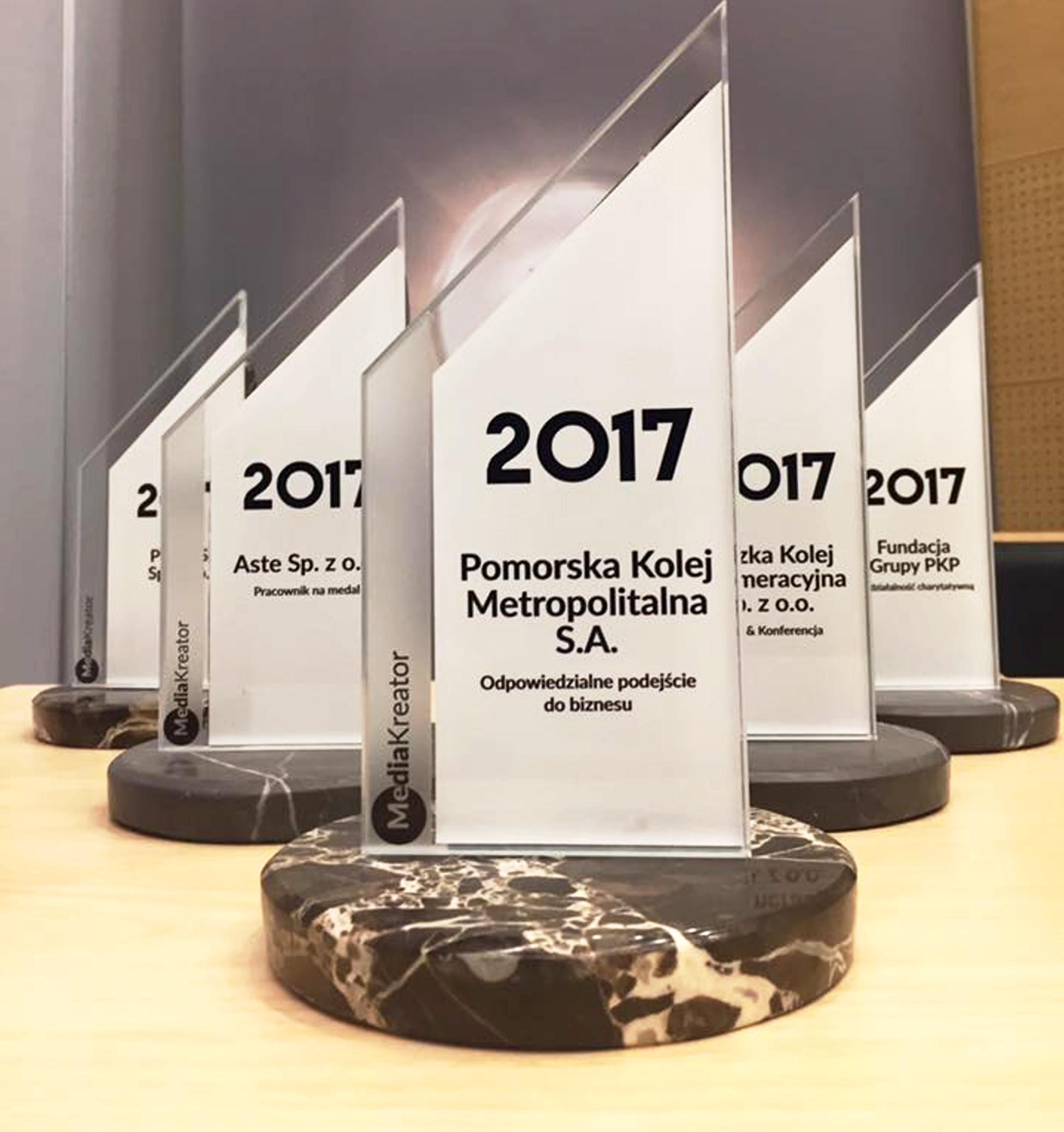 Pomorska Kolej Metropolitalna nagrodzona na Trako 2017. Specjalny MediaKreator za promocję linii kolejowej