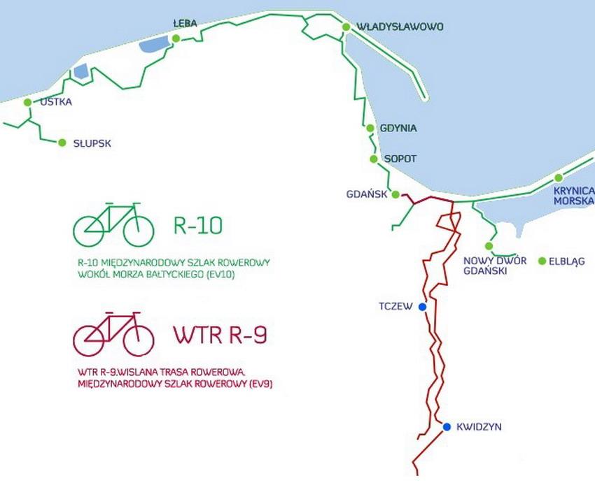 Mapa Pomorskich Tras Rowerowych
