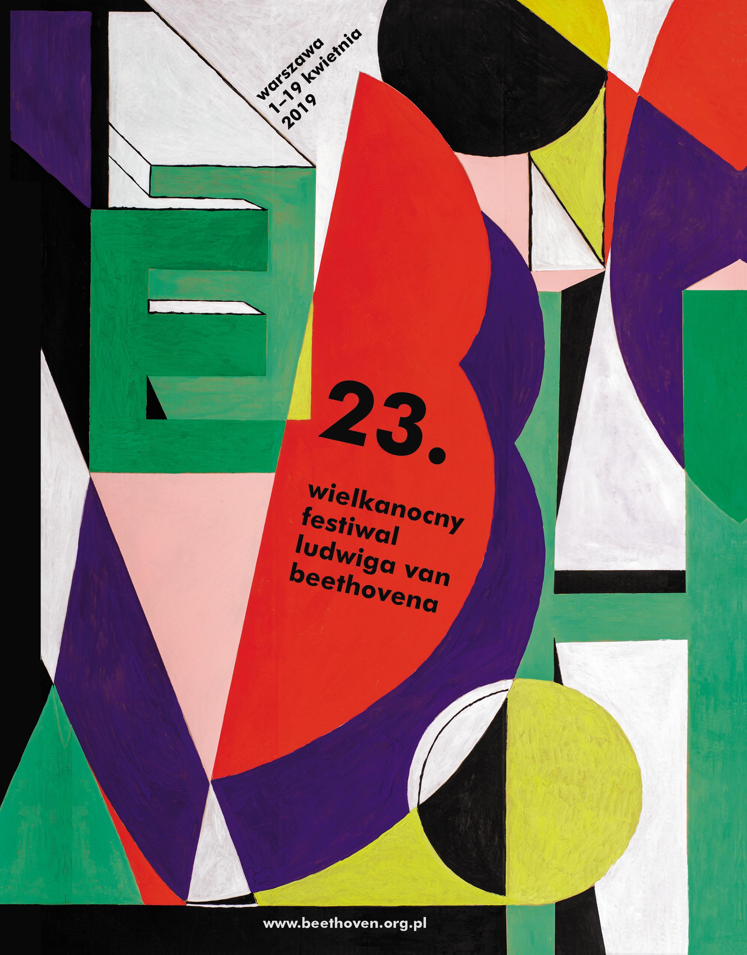 23. Wielkanocny Festiwal Ludwiga van Beethovena _plakat