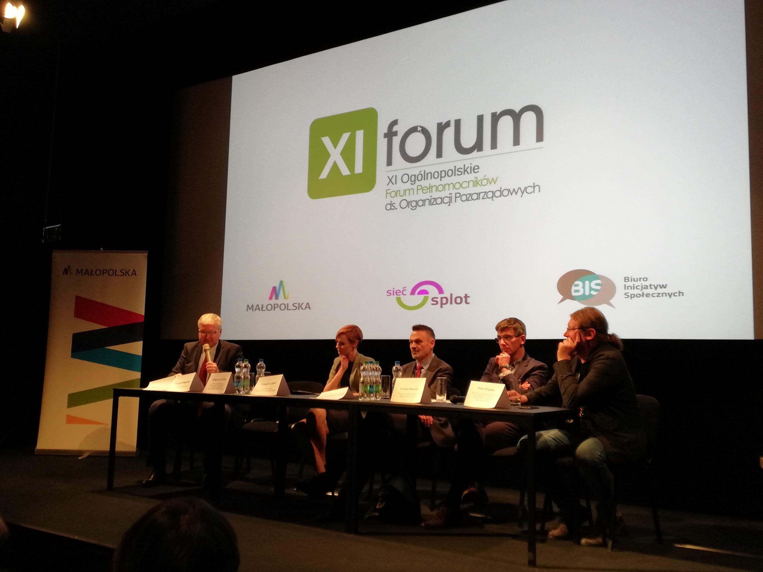 XI Ogólnopolskie Forum Pełnomocników ds. Współpracy z NGO w Krakowie