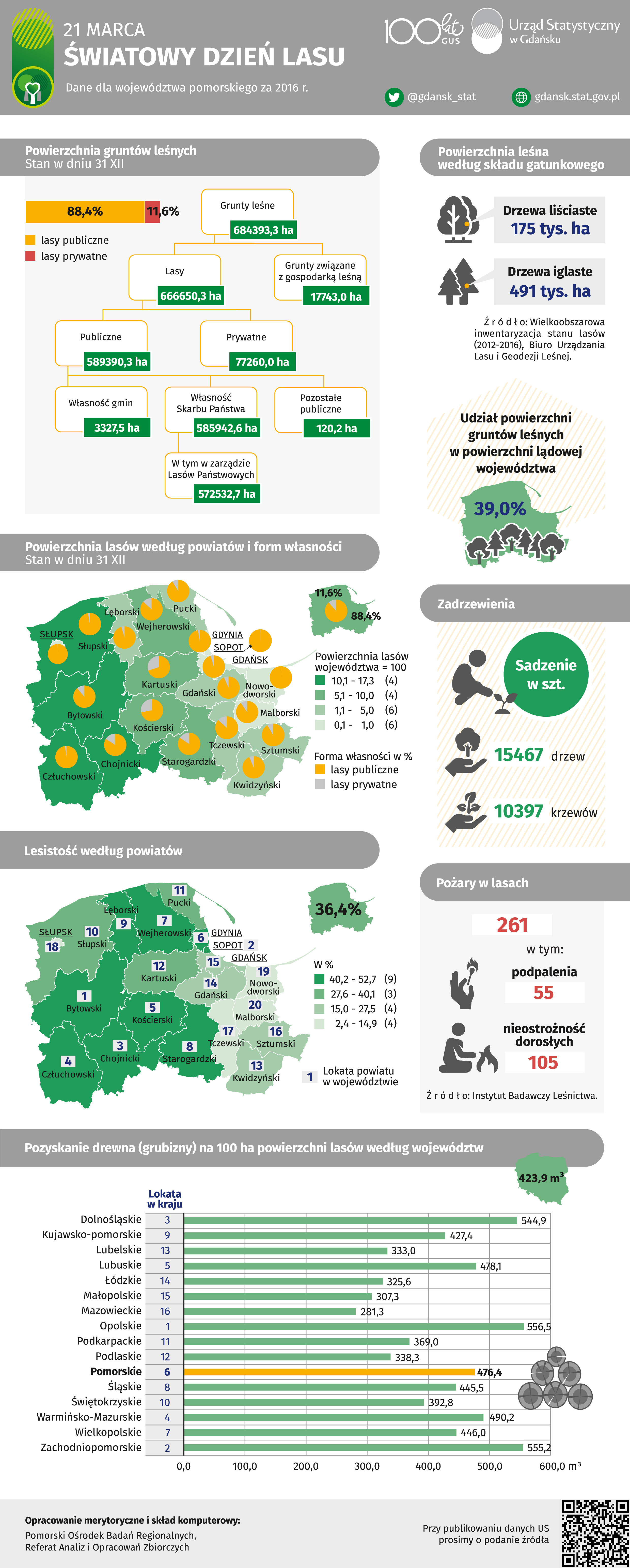 Infografika Światowy Dzień Lasu
