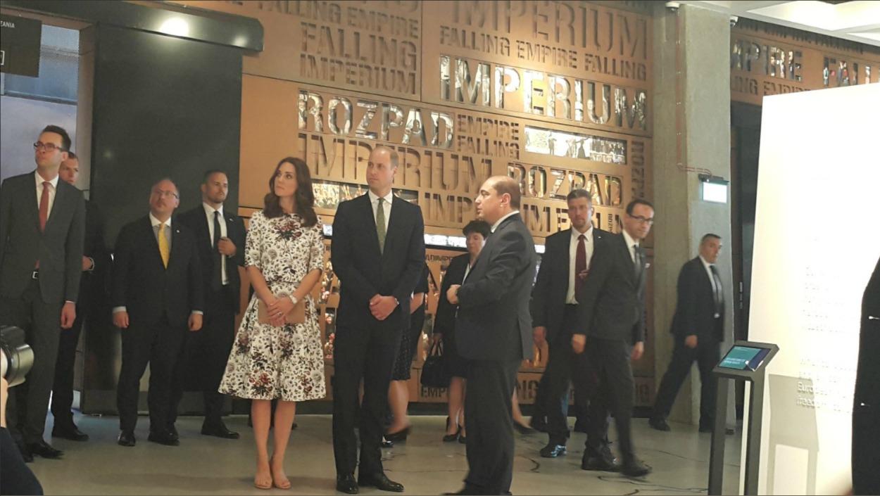 Księżna Kate i książę William w Europejskim Centrum Solidarności