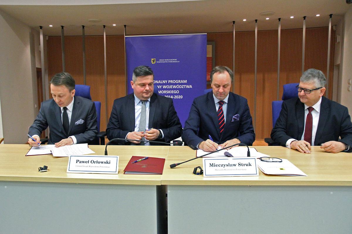 Podpisanie umów o dofinansowanie projektów w ramach Działania 7.2