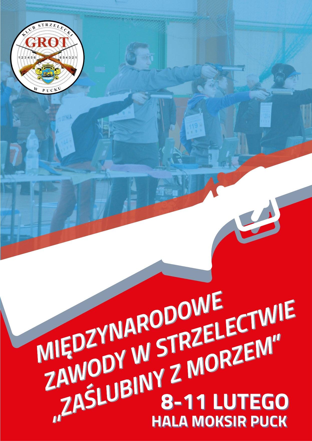 Zawody strzeleckie w Pucku - plakat