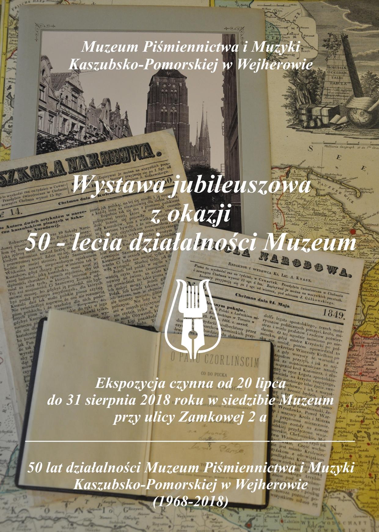 Plakat wystawy z okazji 50-lecia Muzeum w Wejherowie